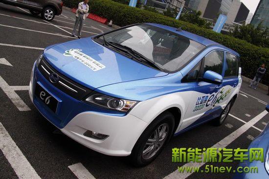 民族电动汽车开拓者 比亚迪e6纯电动车解读高清图片