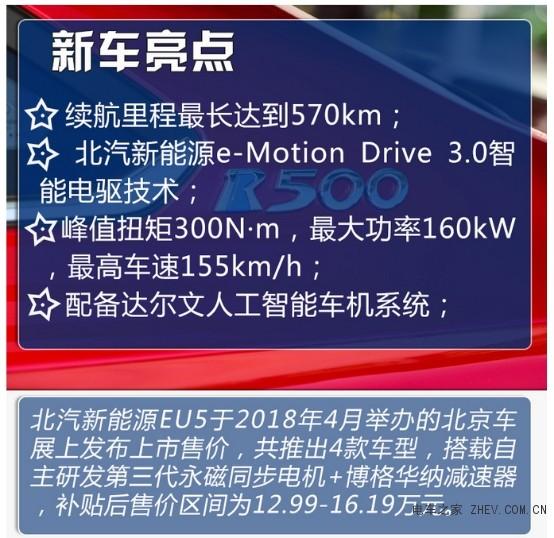 续航500公里的新时代家轿 试驾北汽新能源EU5