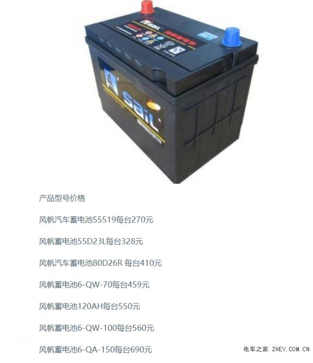 最新风帆蓄电池报价 风帆汽车蓄电池价格表