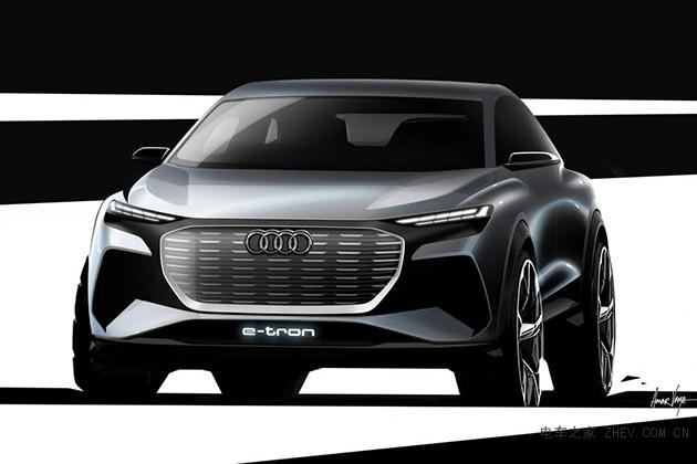 奥迪汽车发布q4 e-tron概念车设计图 这溜背造型看了就想买!