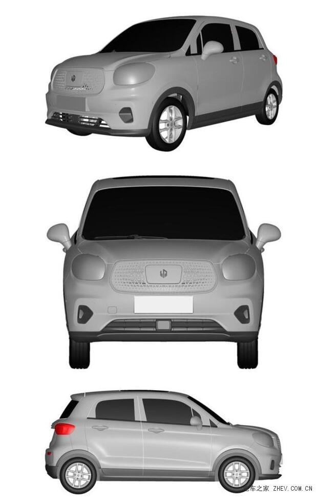 零跑微型电动汽车T03专利图曝光