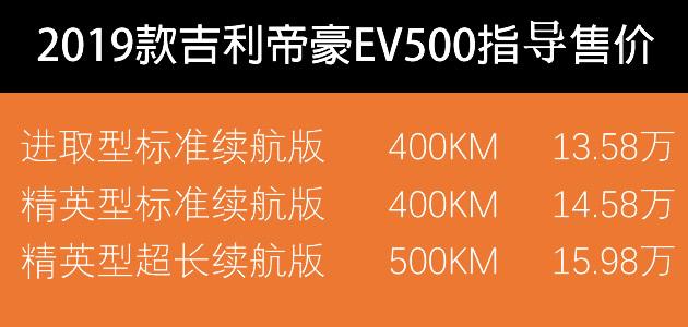 吉利帝豪EV500