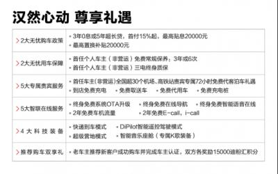 全球超安全智能新能源旗舰轿车汉正式上市