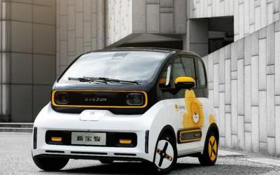 新宝骏与苏宁打造的全E300小Biu北京车展发布