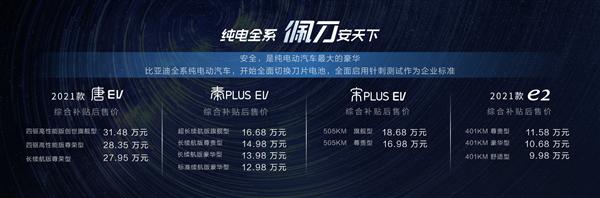 王传福:比亚迪今后全系搭载刀片电池