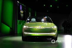 四门轿跑电动车 斯柯达VISION iV设计图