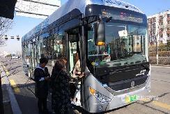 续航可达500公里 中通10.5米氢燃料公交在大同上线!