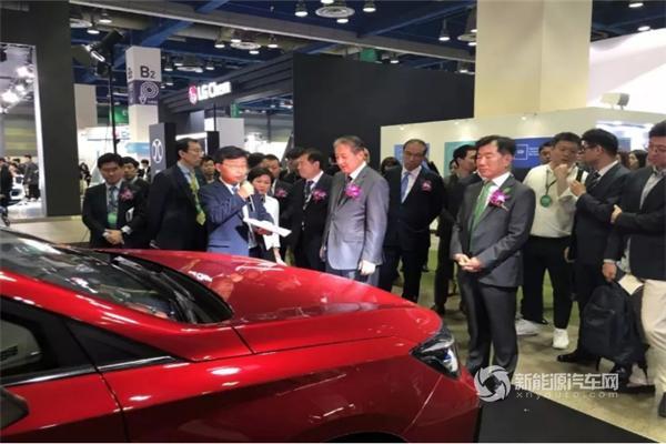 北汽携EU5、EX5和EX3亮相韩国新能源电动车博览会