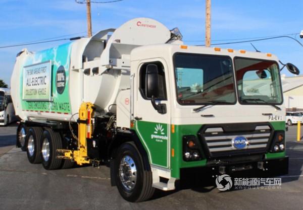 纯电动环卫车驶入美国硅谷中心地区,比亚迪制造!