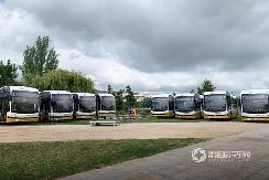 葡萄牙首个12米纯电动大巴车队亮相,来自中国BYD!