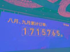 八月、九月累计订单:1715765台,雅迪创下行业之最