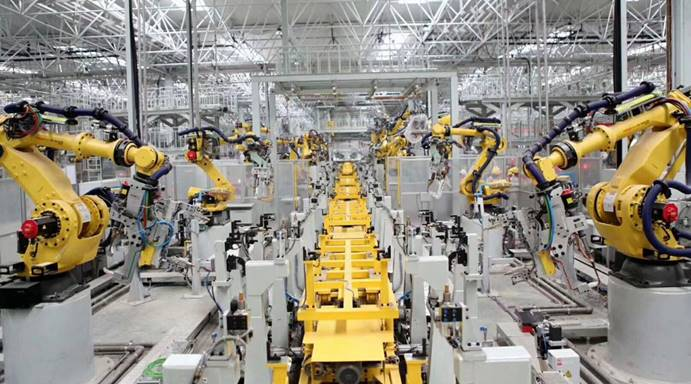 长城汽车重庆工厂智能化生产线