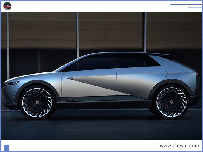 现代新纯电跨界车曝光 造型科幻/年产能达7万台-图2