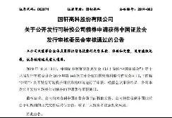 国轩高科公开发行可转债申请获证监会审核通过