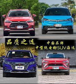 品质之选 中国品牌中型纯电动SUV海选