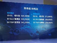 北京现代昂希诺纯电动今日上市 补贴后售价17.28