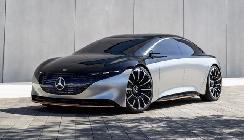 奔驰Vision EQS实车亮相,外观酷炫很有未来感