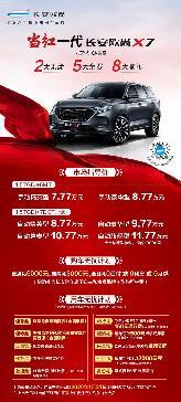 售价7.77-11.77万元!长安欧尚X7正式上市
