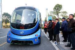感受未来交通魅力,海格无人驾驶巴士编队行驶!