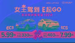 北京特供版7.99万!首付1.2万开走续航403km神车!