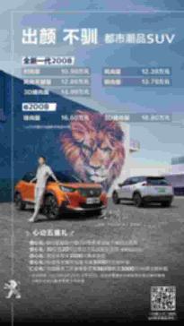 补贴后售价16.60万-18.80万元 标致e-2008正式上市 【图】