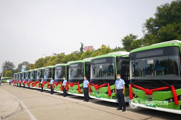 """助力绿色出行,""""后稷故里""""再投比亚迪纯电动公交车"""