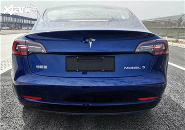 特斯拉Model 3申报图 搭磷酸铁锂电池