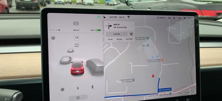 前瞻技术,特斯拉,自动驾驶,特斯拉驾驶可视化功能,自动驾驶,车载娱乐
