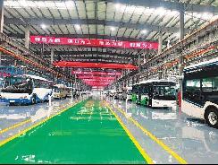 山西自主研发生产的首批氢能源电动汽车全新亮相