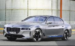 宝马7系纯电版渲染图 有望于2022年发布/续航或达700公里