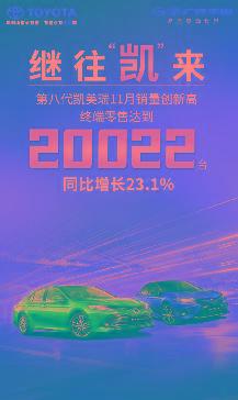 广汽丰田11月销量77400台三款TNGA新星闪耀亮相