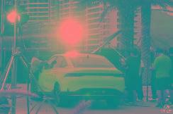 小鹏全新轿车实车图曝光,定名为P5,将在本月正式亮相!