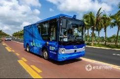 金龙造!海南首个无人驾驶公交车开通试运行