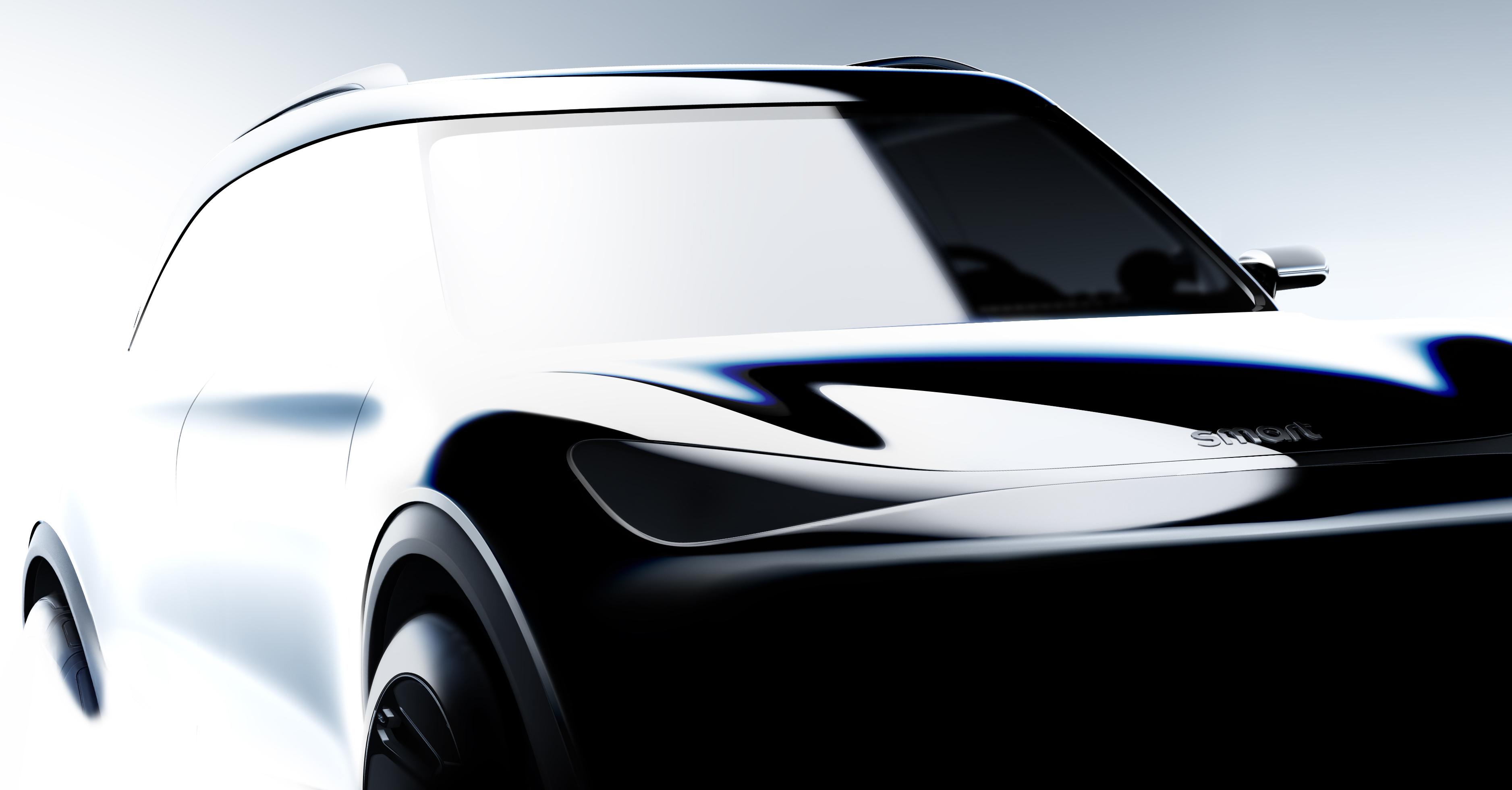 9月发布/2022年上市 smart纯电动SUV渲染图曝光