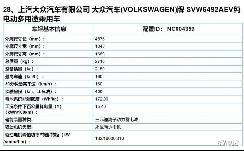 上汽大众申报ID.6 X标准续航和四驱版车型 续航为436km和510km