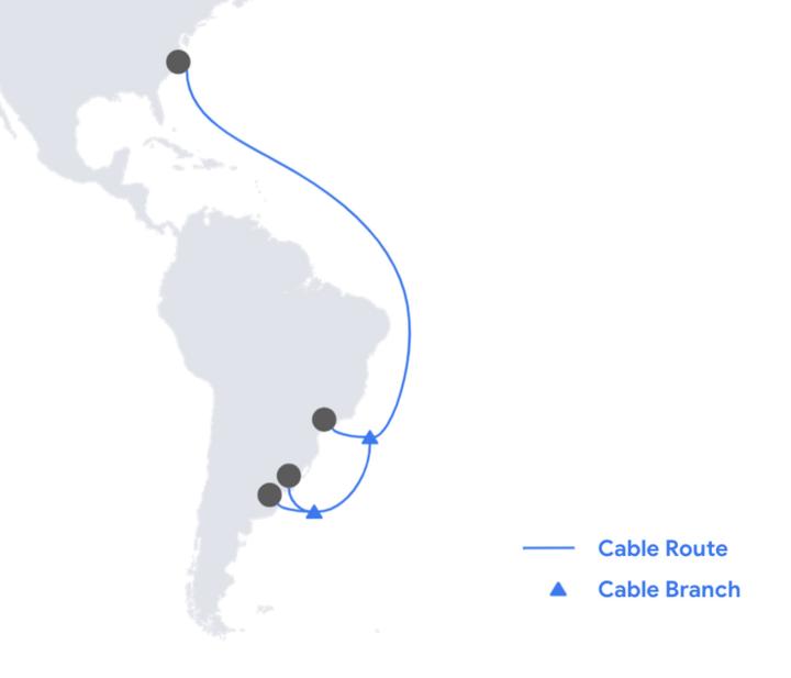 谷歌将在美国和阿根廷新建海底电缆