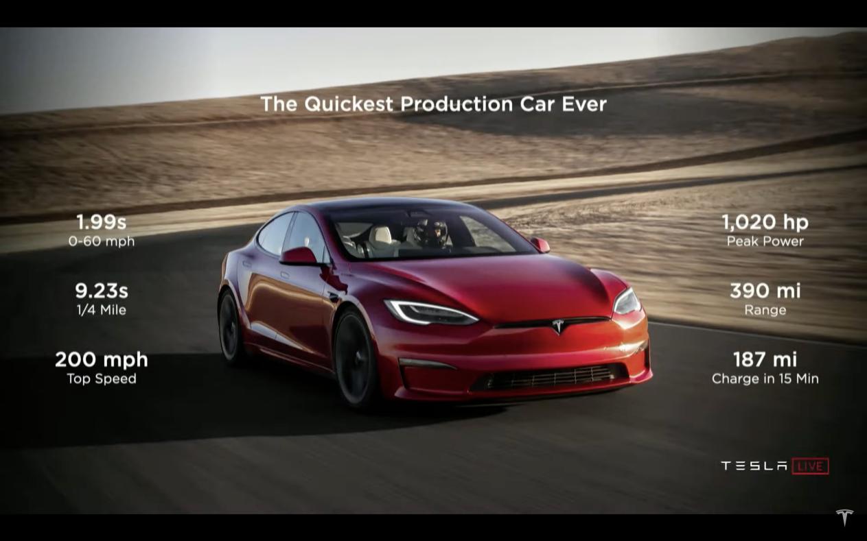 国内将售价105.99万元 特斯拉Model S Plaid美国交付