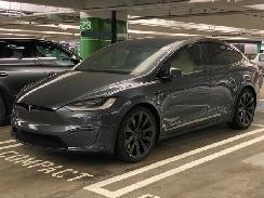 百公里加速时间2.6秒 特斯拉最强原型车Model X Plaid谍照