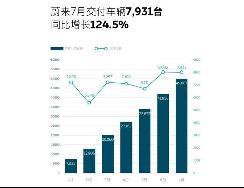 同比增长124.5% 蔚来汽车7月交付7931辆