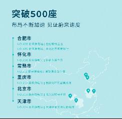 推进换电服务的普及 蔚来汽车已建成504座换电站
